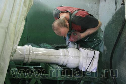 Изготовление мраморного столба