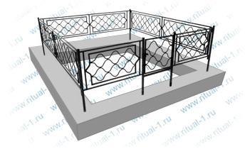Ограда с установкой
